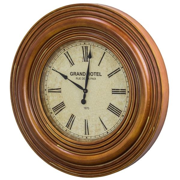Grand Hotel Rue De La Paix 1870 Wall Clock - N/A