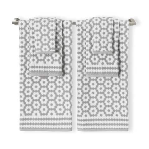 veronica 6 piece towel set grey
