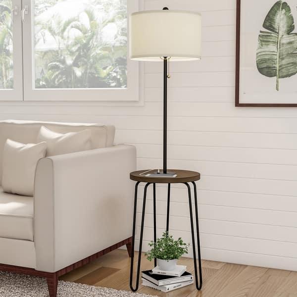Floor Lamp End Table Mid Century