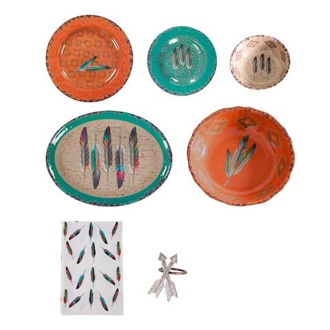 Lifestyle Dinnerware Feather Melamine 25 Piece Set
