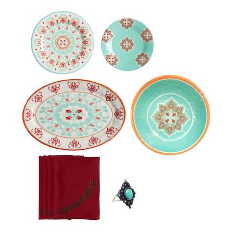 Lifestyle Dinnerware Western Melamine 20 Piece Set