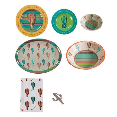 Lifestyle Dinnerware Cactus Melamine 25 Piece Set