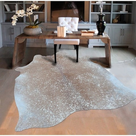 White/Brown Argentinean Cow Hide Rug (5' x 7') White Brown rugs for sale - 5' x 7'/Big - 5' x 7'/Big