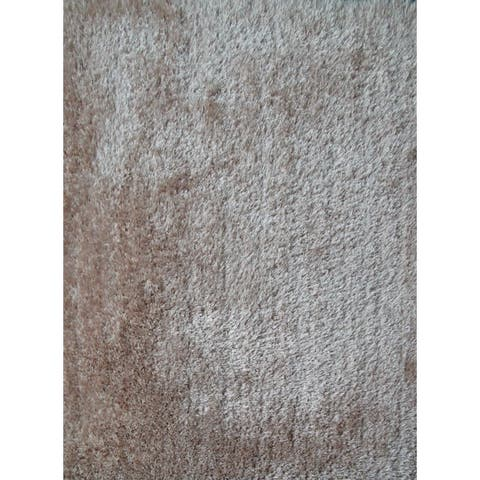 Extremely Soft Shaggy Rug Brimming with a Vibrant Shade of Beige (8x10) Brown rugs for sale - 8' x 10'/Big