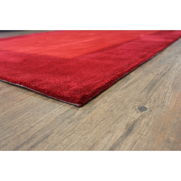 "Tone-on-Tone Solid Red Area Rug (7'6 x 10'3) Red rugs for sale - 7'6"" x 10'6""/Big"