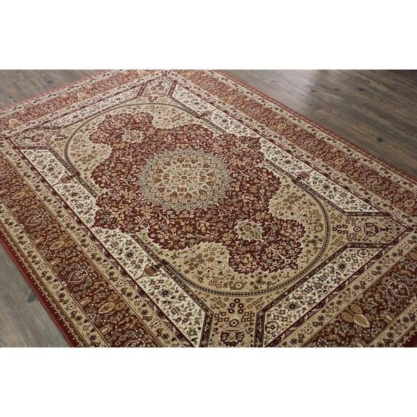 Rust Tabriz Persian Area Rug (5'3 x 7'5) Orange Brown Blue rugs for sale - 5'3 x 7'5/Big