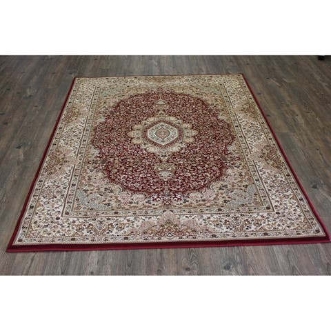 Burgundy Isfahan Persian Area Rug (5'3 x 7'5) Blue Red rugs for sale - 5'3 x 7'5/Big