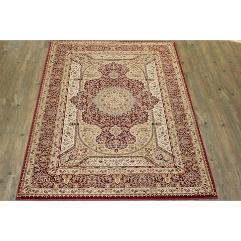 Burgundy Tabriz Persian Area Rug (5'3 x 7'5) Brown rugs for sale - 5'3 x 7'5/Big