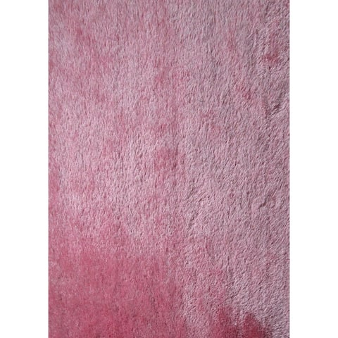 "Modern Shaggy Rug Runner Featuring a Vibrant Cheerful Shade of Pink (2'x7'5) Pink rugs for sale - 2' x 7'5""/Big"
