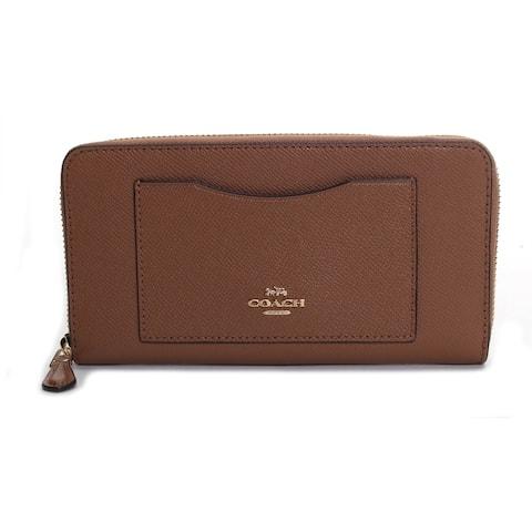 Coach Women's Crossgrain Leather Accordion Zip Wallet