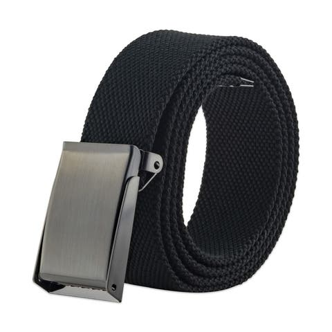 DII Mens Military Style Canvas Web Belt 46 Dark Grey