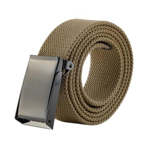 DII Mens Military Style Canvas Web Belt 46 Dark Grey