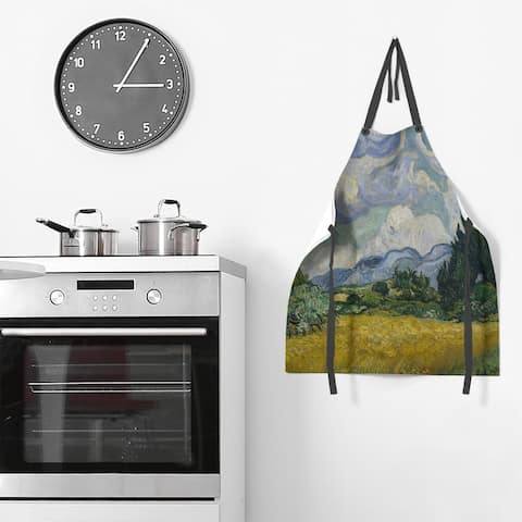 Wheatfield with Cypresses Apron - 27 x 30