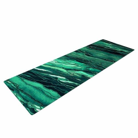"""Ebi Emporium """"Agate Magic - Teal Green Multi"""" Jade Painting Yoga Mat"""