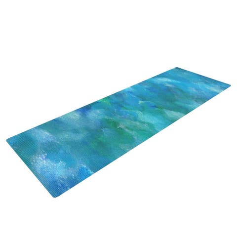 """Rosie Brown """"Ocean Waters"""" Blue Aqua Yoga Mat"""