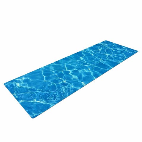 """Suzanne Carter """"Reflections"""" Yoga Mat - Blue"""