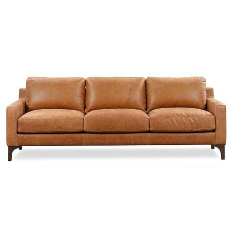 Poly and Bark Sorrento Leather Sofa