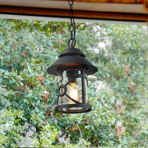 """The Gray Barn Dairy Air 1-light Porch Ceiling-lights in Hand-polished Black Pendant - D9"""" X H12.6"""" - D9"""" X H12.6"""""""
