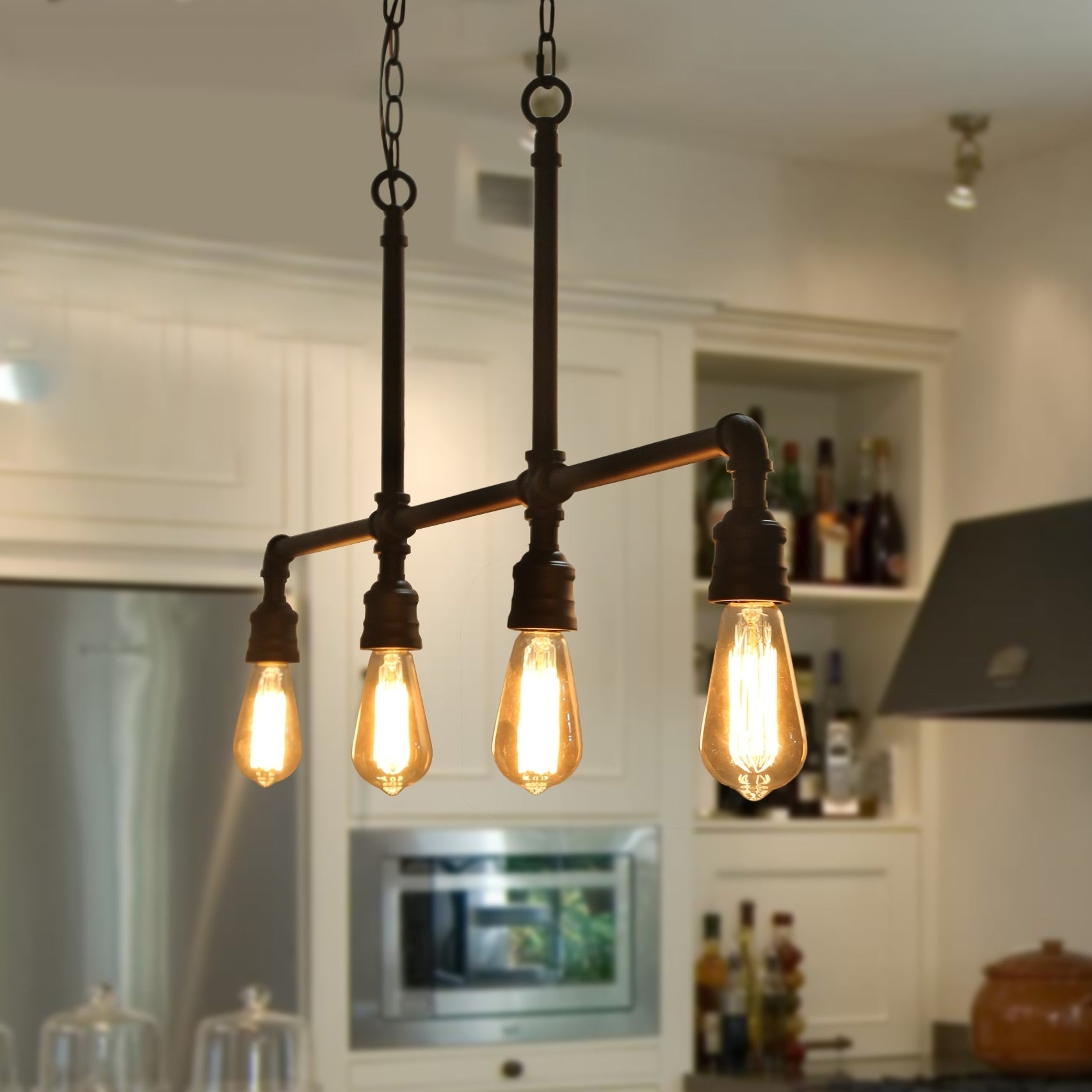 The Gray Barn Heavenly Winds 4-light Linear Kitchen Island Industrial  Pendant - N/A