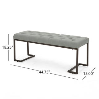 Galileo Modern Fabric Bench by Christopher Knight Home