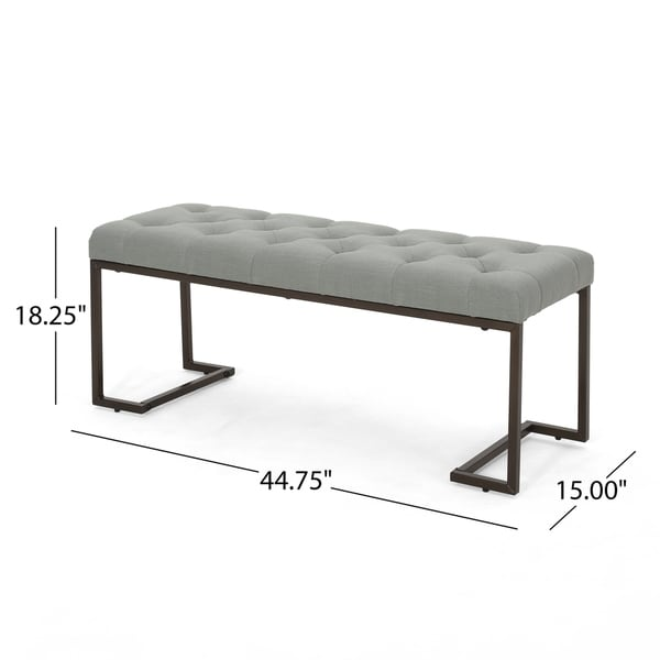 Galileo Modern Fabric Bench by Christopher Knight Home. Opens flyout.