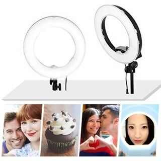"Kshioe 8"" Mini LED Ring Lights for Makeup, YouTube, Camera/Phone Video Shooting"