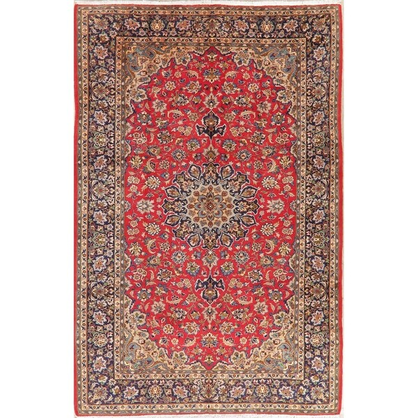 """Vintage Najafabad Medallion Oriental Hand Knotted Persian Area Rug - 11'10"""" x 8'2"""""""