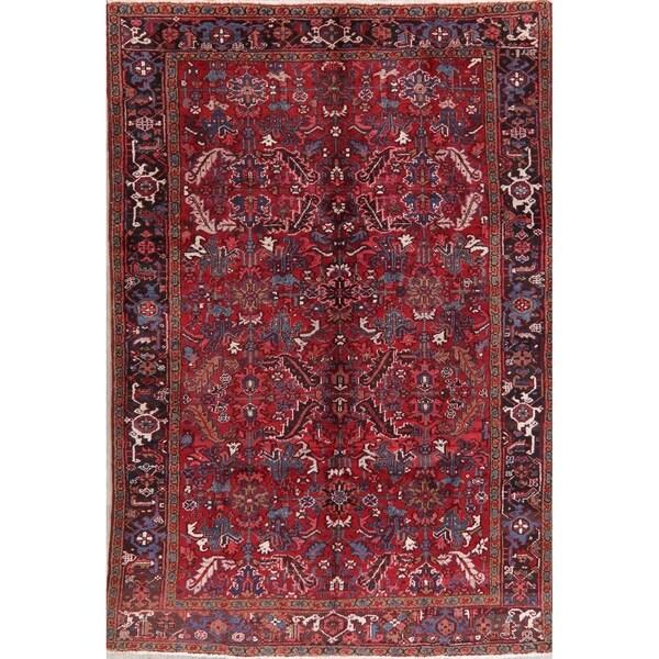 "Vintage Heriz Tribal Oriental Hand Knotted Wool Persian Area Rug - 9'2"" x 6'3"""