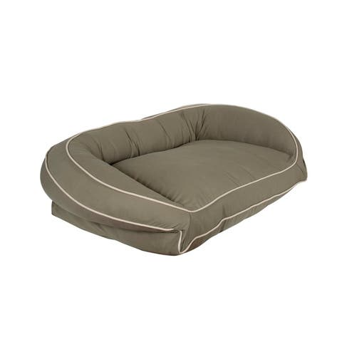 Carolina Pet Classic Canvas Bolster Lounger Pet Bed
