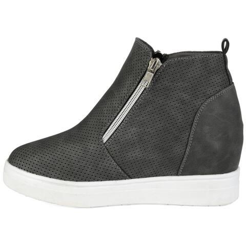 Journee Collection Women's Phoebe Sneaker Wedge