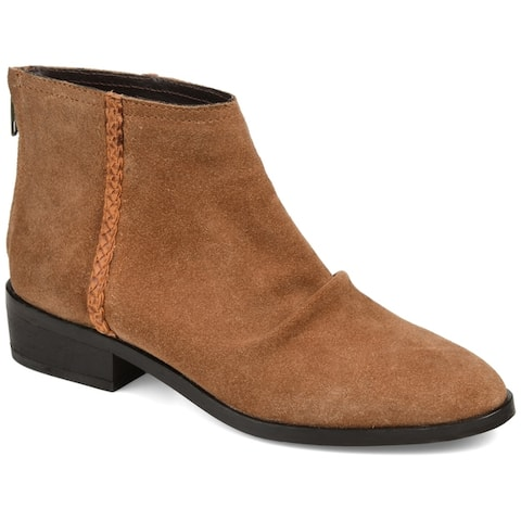 Journee Signature Womens Genuine Leather Bree Bootie