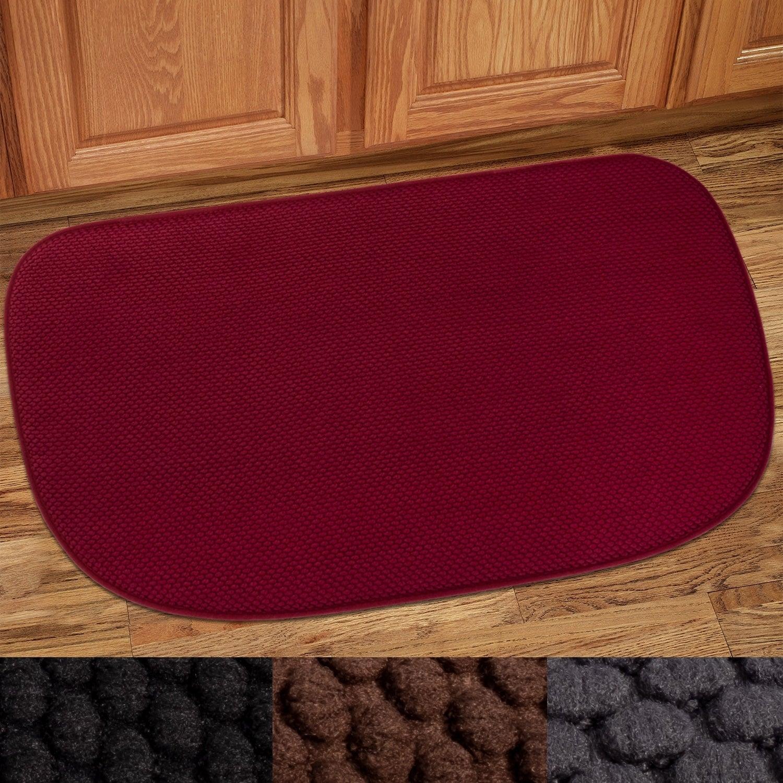 Shop Memory Foam Honeycomb Non Slip Kitchen Rug 18 X30 On Sale