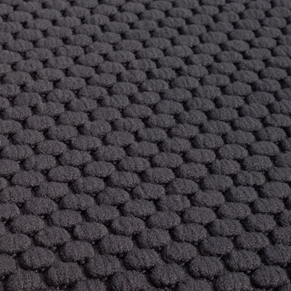 Charcoal Gray 30 x 18 Sweet Home Collection Kitchen Rug Memory Foam Honeycomb Slip Non Skid Soft Comfortable Anti Fatigue Floor Mat