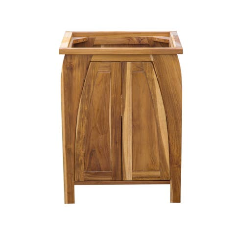 "24"" EcoDecors Tranquility Solid Teak Bathroom Vanity in EarthyTeak Finish"