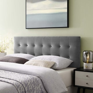 Lily King Biscuit Tufted Performance Velvet Headboard