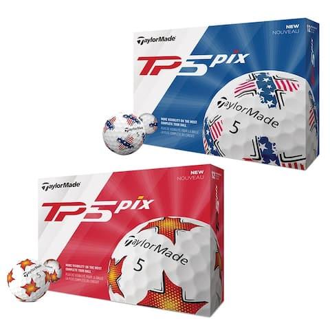 TaylorMade TP5 Pix Golf Balls - 1 Dozen