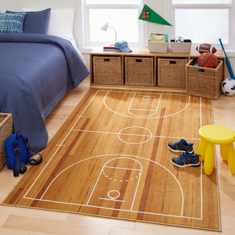 Porch & Den Waker Basketball Court Area Rug