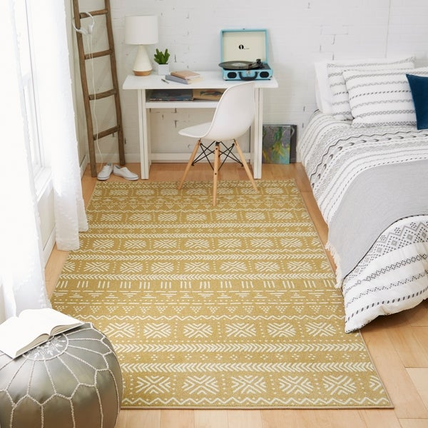 Mohawk Prismatic Stamped Stripe Area Rug. Opens flyout.