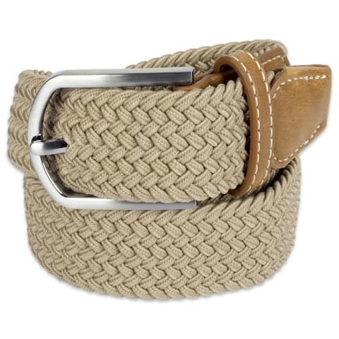 DII Mens Braided Elastic Woven Belt