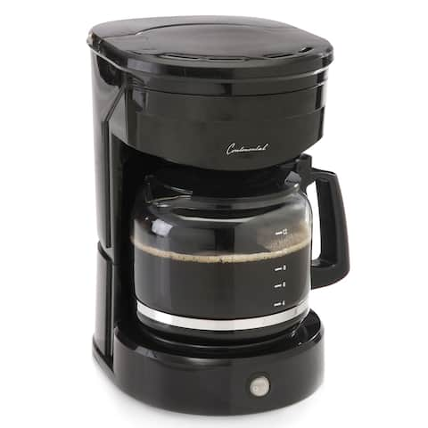 Continental Electric 12-Cup Coffee Maker, Permanent Filter, Black