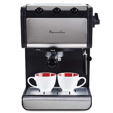 Professional Series 4-Cup Espresso Machine, Silver