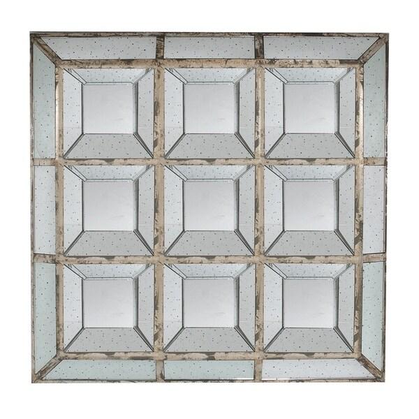 Aged Silver 46-inch Square Mirror