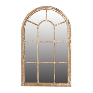 Ada 54-inch White Wash Large Arched Mirror