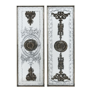 Bronze 48-inch Doorways Past Mirrored Panels (Set of Two)