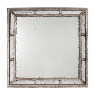 Irving 39-inch Antique White Square Framed Mirror