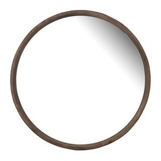 Thayne 28-inch Natural Wood Round Wall Mirror