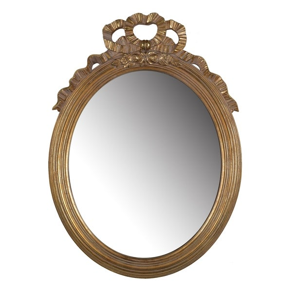 Marquis 26-inch Gold Leaf Large Round Mirror