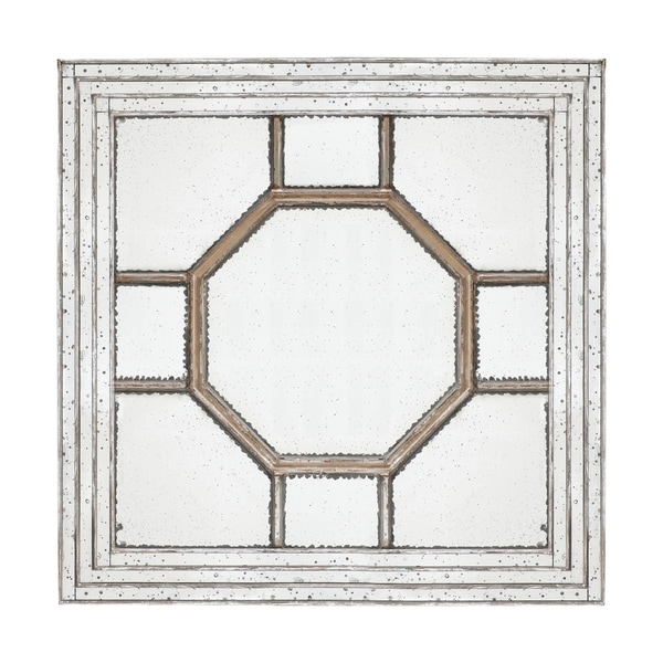 Irving 48-inch Weathered Gold Decorative Square Mirror