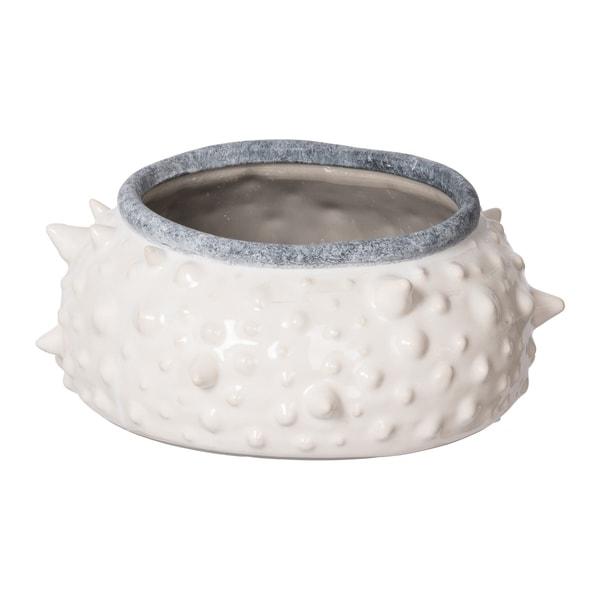 Asmund Gloss White Short Decorative Vase