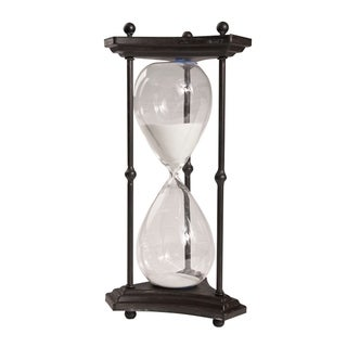Thetis White Sand Tall 60-Minute Hourglass with Iron Stand